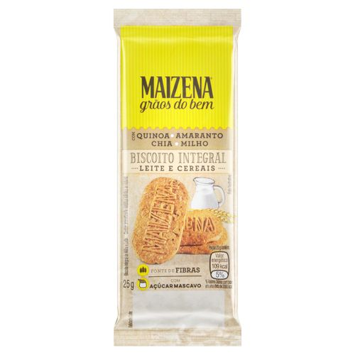 Biscoito Maizena Leite E Cereais 25g