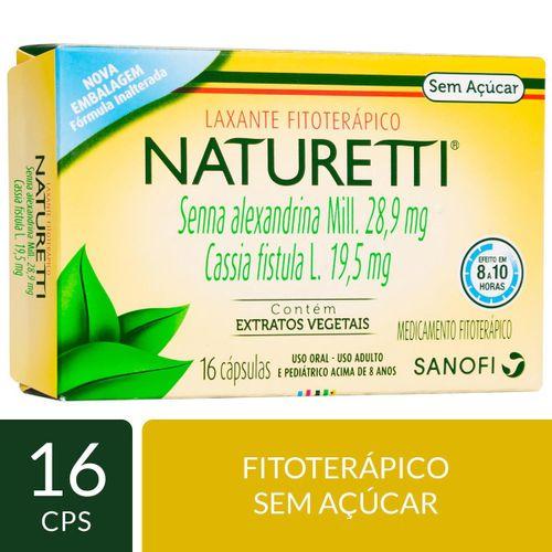 Laxante Fitoterápico Naturetti 16 cápsulas