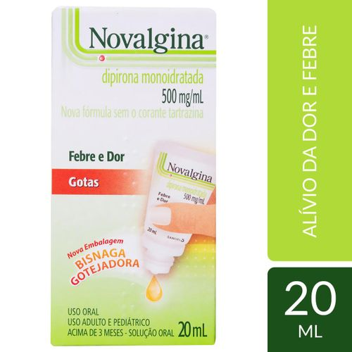 Analgésico Novalgina 500mg/ml Gotas 20 ml