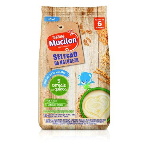 Mucilon Cereais E Quinoa Zero 180g