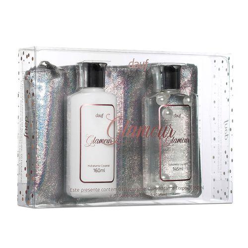 Kit Glamour Dauf Contendo 1 Sabonete Liquido+1 Hidratante + 1 Necessaire
