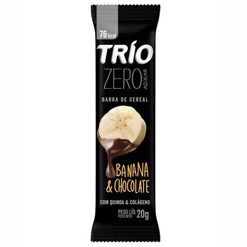 Barra Trio Banana Com Chocolate Zero Açúcar 20g
