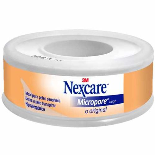 Fita Micropore Nexcare Bege - 12 Mm X 4,5 M