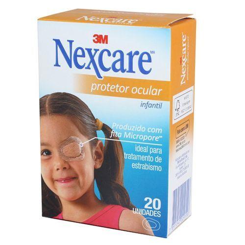 Protetor Ocular Infantil Nexcare - 20 Unidades