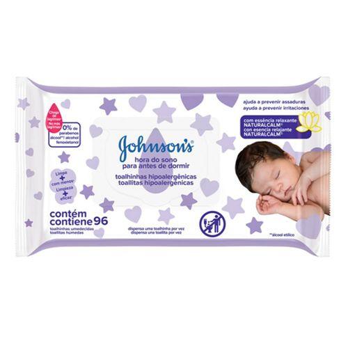 Lenços Umedecidos Johnsons Baby Hora Do Sono 96 Unidades