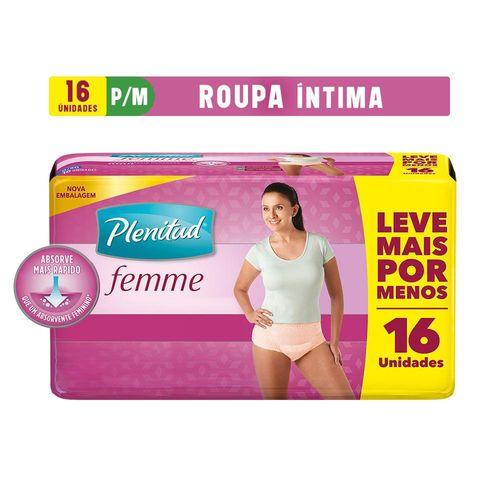Roupa Intima Plenitud Femme P/M -16 Unidades