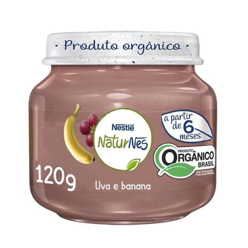 Alimento Infantil Nestlé Naturnes Uva E Banana 120g
