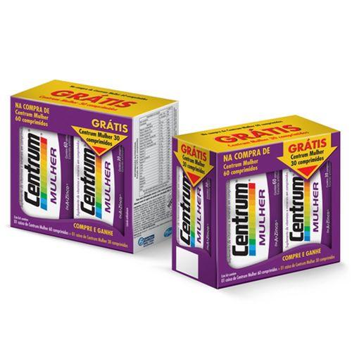 Centrum Mulher Kit Leve 90 Comprimidos e Pague Apenas 60 Comprimidos