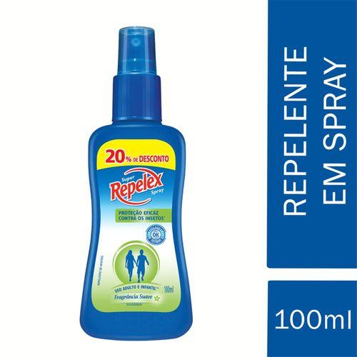 Repelente Repelex Spray 100ml Com 20% De Desconto
