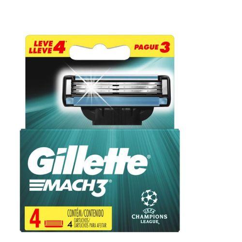 Carga Mach3 Gillette League Champions Leve 4 Pague 3 Unidades