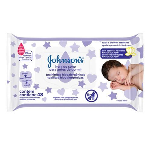 Lenços Umedecidos Johnsons Baby Hora Do Sono 48 Unidades