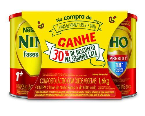 Kit Composto Lácteo Ninho Fases 1+ 1,6kg