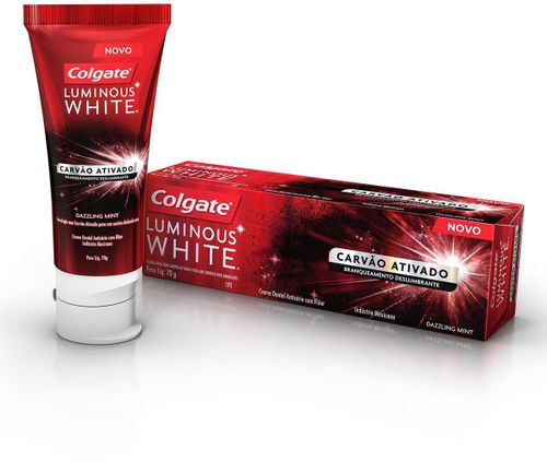 Creme Dental Colgate Luminous White Carvão Ativado 70g