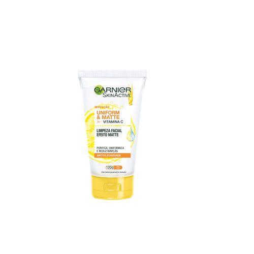 Gel de Limpeza Facial Garnier Skin Uniform & Matte - 120g