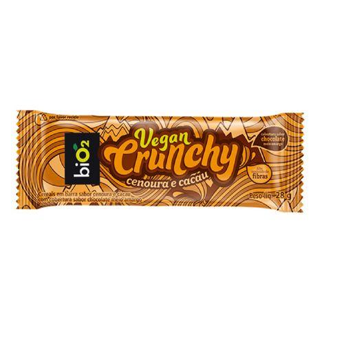 Barra Bio2 Vegan Crunchy Cenoura E Cacau 28g