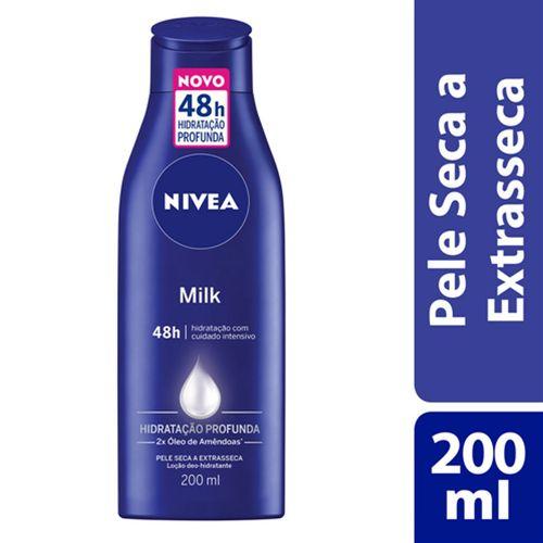 Hidratante Nivea Milk Pele Seca A Extra Seca 200ml