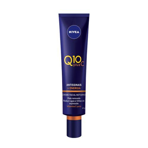 Creme Facial Antissinais Noite Nívea Q10 Plus C 40ml