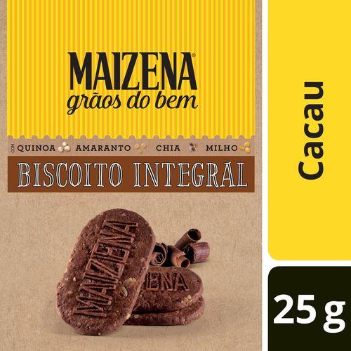 Biscoito Integral Maizena Grãos do Bem Cacau 25 GR