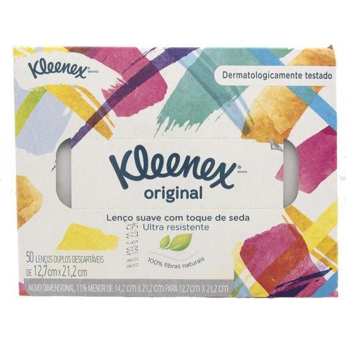 Lenços Kleenex Com 50 Unidades