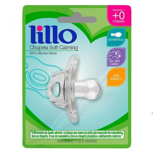 Chupeta Lillo Soft Calming Transparente Silicone Tamanho 1 ( 0 - 6 Meses )