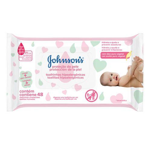 Lenços Umedecidos Johnsons Baby Extra Cuidado 48 Unidades