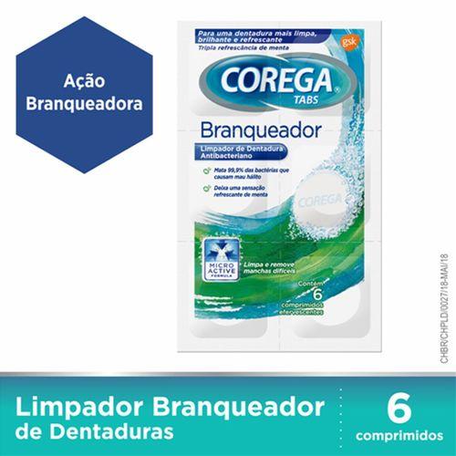 Corega Tabs Limpador De Dentaduras  6 Pastilhas