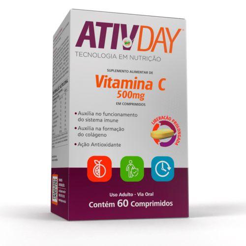 Vitamina C Ativday 500mg Com 60 Comprimidos