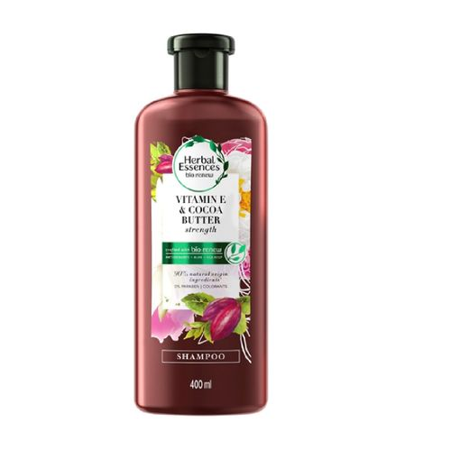 Shampoo Herbal Essences Bio:Renew Vitamina E e Manteiga de Cacau 400ml