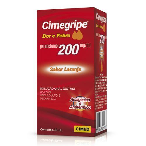 Cimegripe Dor E Febre 200mg Gotas Sabor Laranja 15ml