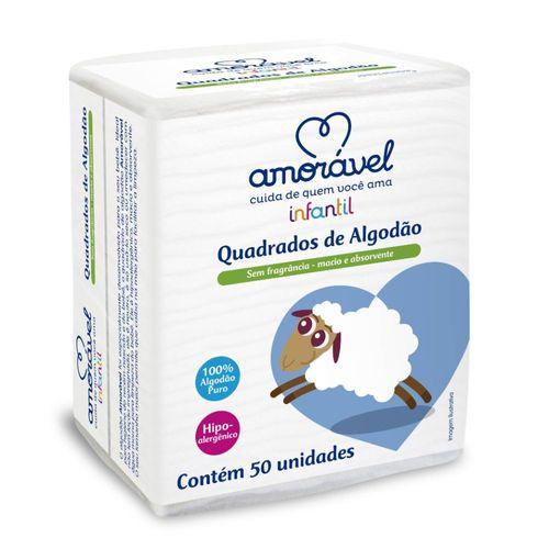 Algodao Amoravel Infantil Quadrado Com 50 Unidades