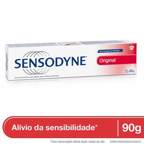 Sensodyne Creme Dental Original Para Dentes Sensíveis 90g