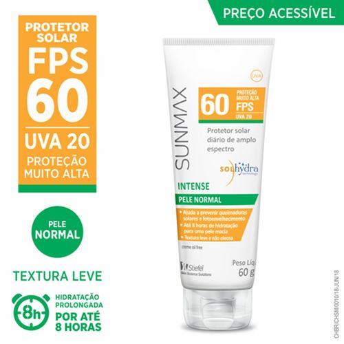 Sunmax Intense Fps60 Pele Normal/ Seca 60g