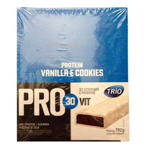 Barra Trio Pro 30 Vit Vanilla E Cookies