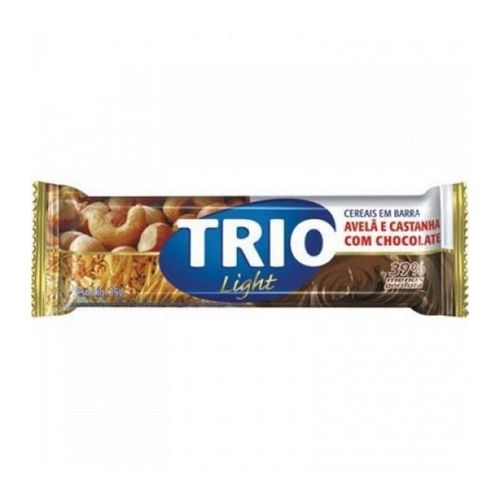 Cereal Barra Trio Aveia, Castanha E Chocolate Light 20g.