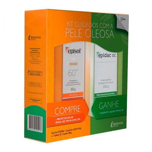 Episol Sec Protetor Solar Fps60 Com Cor 60g Gratis Sabonete Liquido Epidac Oc 100g