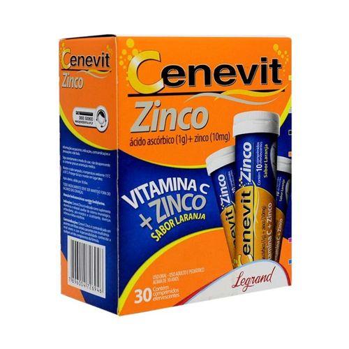 Cenevit Zinco 1g Efervescente Com 30 Comprimidos