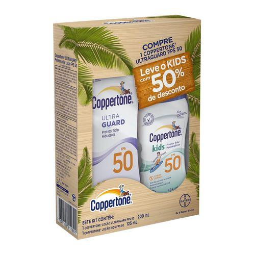 Protetor Solar Coppertone Ultraguard Fps50 Loçao +protetor Solar Coppertone Kids Fps50 Loçao 200ml