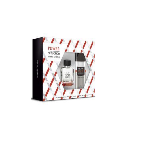 Kit Antonio Banderas Power of Seduction Masculino EDT100ml + Deo Spray 150ml