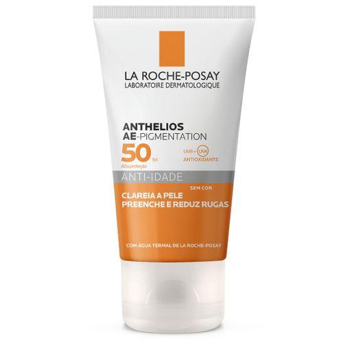 Anthelios Ae-Pigmentation Protetor Solar Anti-Idade Fps50 Clareador Sem Cor 40g