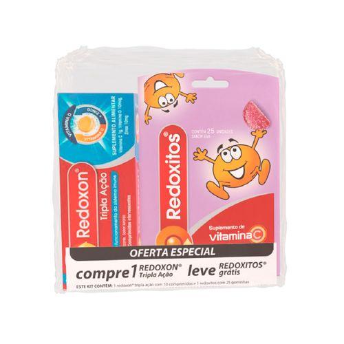 Redoxon Tripla Ação Com 10 Comprimidos Efevercentes Gratis Redoxitos Com 25 Gominhas