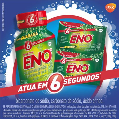 Sal De Fruta Eno Guaraná 100g