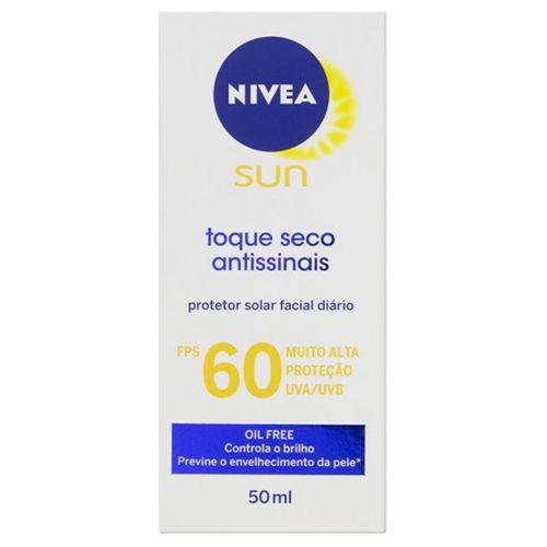 Protetor Solar Nivea Sun Facial Toque Seco  Fps60 50ml