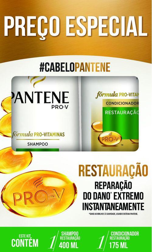 Shampoo 400ml + Condicionador 175ml Pantene Restauração