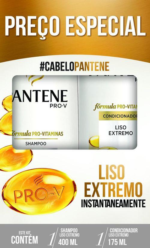 Shampoo 400ml + Condicionador 175ml Pantene Liso Extremo