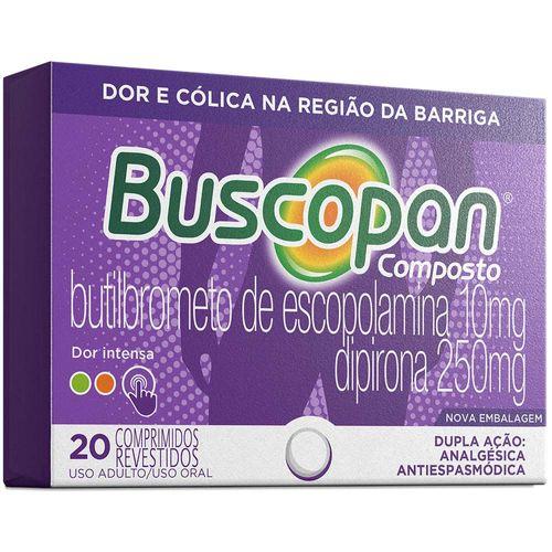Buscopan Composto 10 mg com 20 Comprimidos