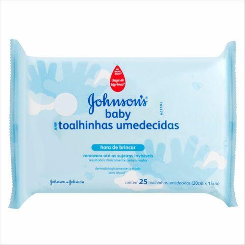 Lenços Umedecidos Johnsons Baby Hora De Brincar 25 Unidades