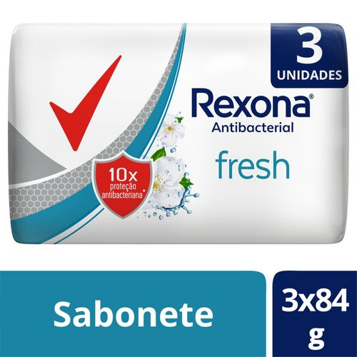 Sabonete Em Barra Rexona  Antibacterial Fresh Multipack 3un. De 84g
