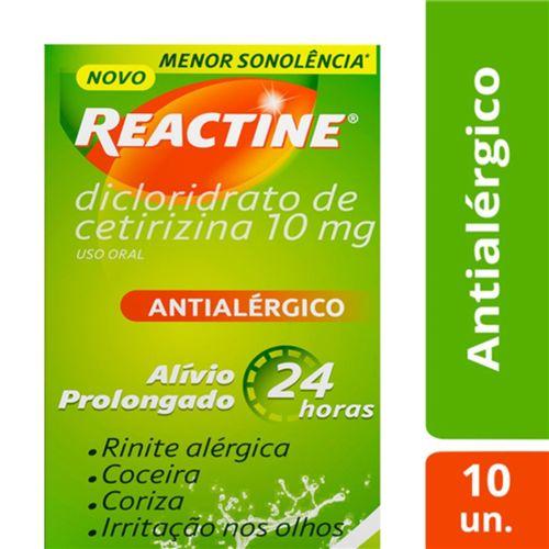 Reactine 10mg 10 Cápsulas