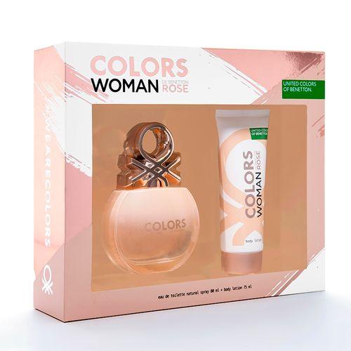 Perfume Colors Rose Woman 80ml + Hidratante 75ml