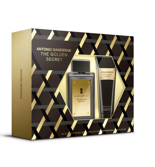 Kit Antonio Banderas The Golden Secret Masculino EDT 100ml + Deo Spray 150ml